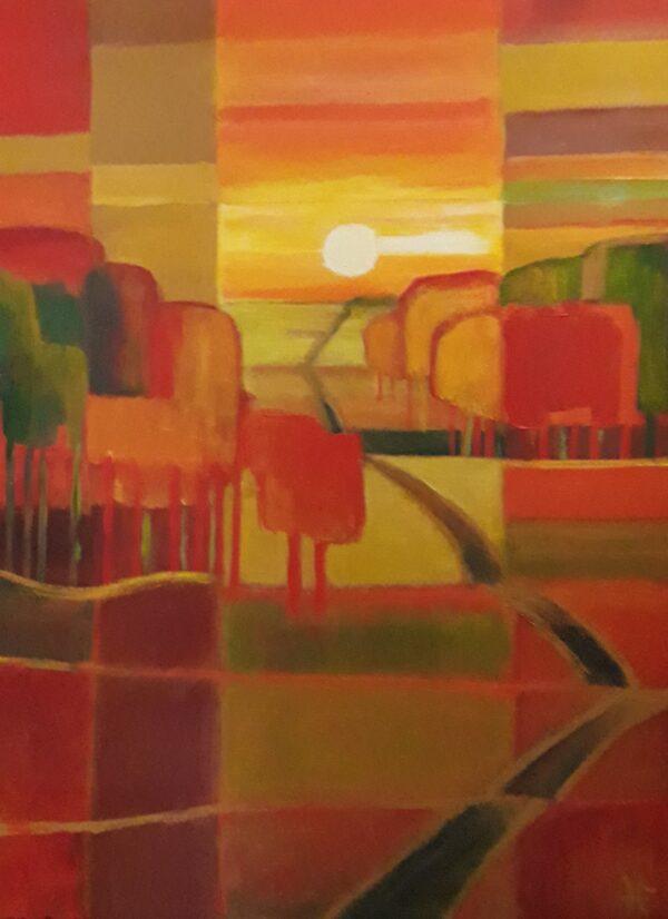 """Schilderij """"Horizon""""."""
