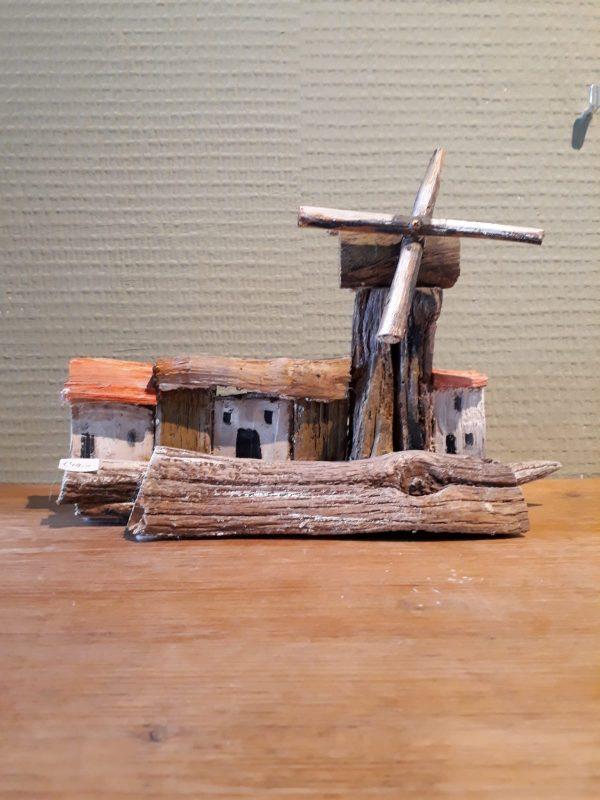 Dorpje met molen 4
