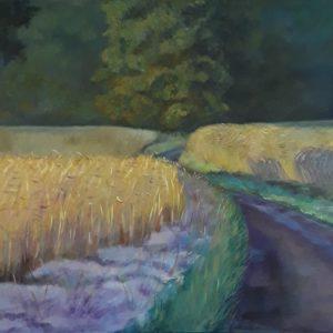 Weg door het koren
